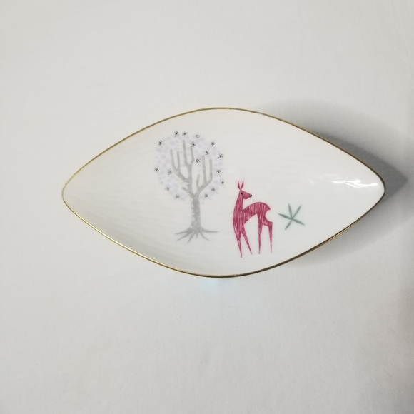 Rosenthal Other - Rosenthal Inca Deer & Tree Porcelain Trinket Tray